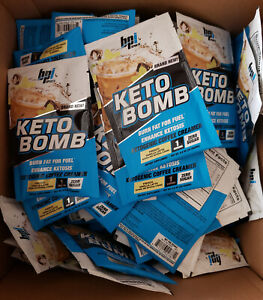 BPI Sports Keto Bomb Coffee Creamer Caramel Macchiato 100 Servings