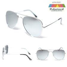 Air Force Aviator Sunglasses - Polarised Silver Mirror Lens - Free Post In AUS