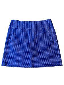 Annika Cutter & Buck Golf Skort Size 10/US4 Blue with White/orange Accents