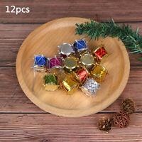12Pcs Colorful Mini Small Drum Christmas Ornament Christmas Tree Decorat joJCSE