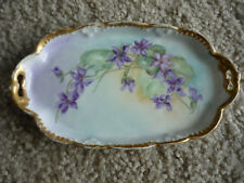HAND PAINTED LIMOGES VANITY TRAY/ A. KLINGENBERG/ 1880'S-90'S