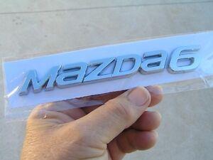 MAZDA 6 New Style Script Badge Rear Italic Emblem