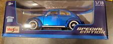 Maisto Die Cast   1955 Volkswagen Käfer - Beetle (Blue -1:18 Scale)