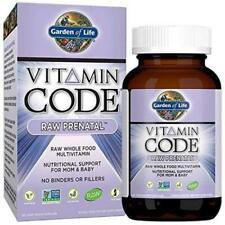 Garden of Life Vegetarian Prenatal Multivitamin Supplement -...
