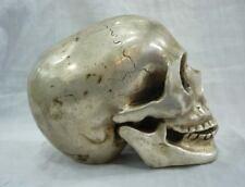 Archaic Tibet silver In-D skull framework statue