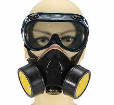 Emergency Survival Safety Respiratory Gas Mask Dual Protection Filter &Glass #71