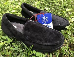 DF by Dearfoams Mens Moccasin With Memory Foam  Slippers Size S (7-8)