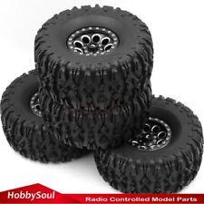 4pcs RC 2.2 Crawler Tires Mud Terrain Tyre 135mm & Alloy 2.2 Beadlock Wheels Rim