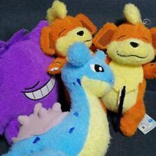 Pokemon Fluffy material Plush doll 2 Growlithe & 1 Lapras & 1 sleeping Gengar