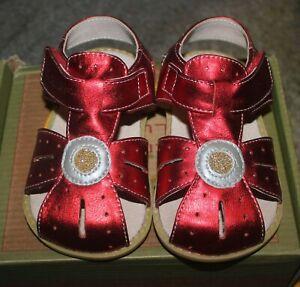 LIVIE & LUCA Shoes Sandals Celestina Red Shimmer - Size 6 - NEW IN BOX - HTF