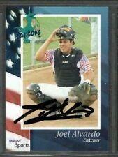 2002 Multi-Ad Ogden Raptors Joel Alvardo Baseball Card Signed Autograph