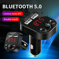 Kit mains libres transmetteur  Bluetooth 5.0 voiture FM lecteur MP3 chargeur USB