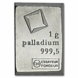 1- ONLY 1 Gram Valcambi Palladium Investment Metal CombiBar (FROM COMPLETE BAR)