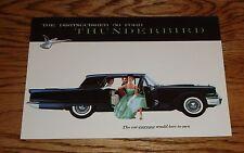 1959 Ford Tbird Thunderbird Foldout Sales Brochure 59