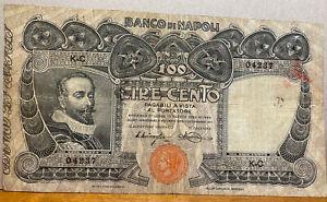 Banco di Napoli 100 lire del 23/02/1911 - NC Firme Miraglia/Mancini