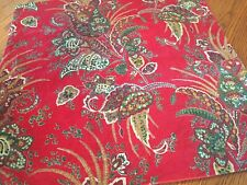 Pottery Barn Adela Velvet Print Pillow cover new/no tag/red/paisley/2 available