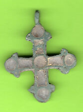 Russia Kiev type Bronze Enamel Cross Pendant Viking time 10-12th 480