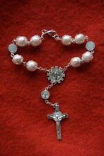 Réf 21 bracelet religieux fille dizainier chrétien dévotion pèlerinage chapelet