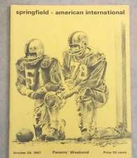 A.I.C. (MA) @ SPRINGFIELD (MA)  COLLEGE FOOTBALL PROGRAM - 1967 - EX SHAPE