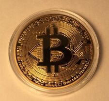 1x Bitcoin Collective Coin in Case! Gold Plated Bitcoin!