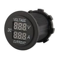 DC 12V-24V Auto Motorrad Dual LED Voltmeter Amperemeter Digitalanzeige Amp Volt