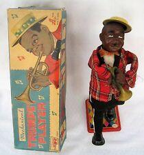 "Vintage Rosko Wind-up Mechanical Trumpet Player W/Original Box ""works"""