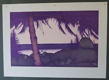 Original limited edition Art Hansen lithograph Evening
