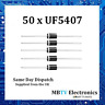 50 x UF5407 Diode 800V 3Amp 2-Pin DO-2 Soft Recovery Ultrafast Plastic Rectifier