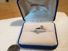 0.20 CK  White Diamond Solitaire Engagement Ring 18k Setting, size  approx: 5