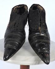 MOST GOTHIC ANTIQUE VICTORIAN SUPER SHARP WITCH POINT SHOES