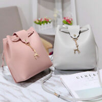 1Pc Women Lady School PU Leather Girls Backpack Travel Handbag Shoulder Bag US