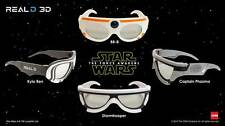 STAR WARS VII The Force Awakens REAL 3 D 3D Glasses COMPLETE SET Limited Edition