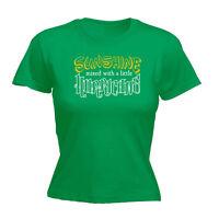 Womens Funny T Shirt Sunshine Hurricane Birthday Joke tee Gift T-SHIRT