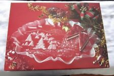 Mikasa Frosted Crystal Christmas Story Oval Canape Large Platter New In Box!