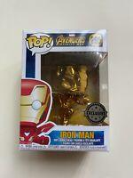 Funko Pop Marvel Avengers IRON MAN (Gold Chrome) #285 2018 Popcultcha Exclusive!