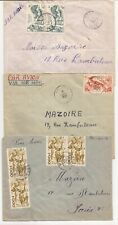 AFRICA (TOGO)- 3 Covers (1950-51) from 3 different cities to Paris