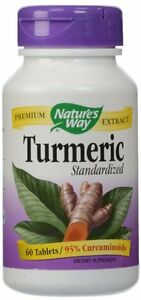 Nature's Way Turmeric Tablets, 60 Ct (Pack of 12)