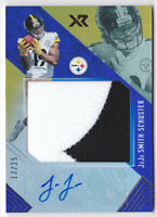 2017 Panini XR Rookie Blue JuJu Smith-Schuster Patch Auto Jersey 17/25