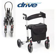 Drive Lightweight X Fold 4 Wheeled Rollator Mobility Walker WA018