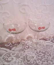 Chi Chi's Restaurant Set of 2 Margarita Glasses with Red Lettering VGUC