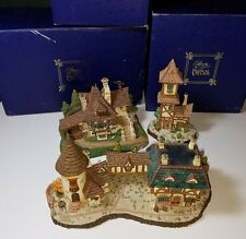 DISNEY'S BEAUTY AND THE BEAST, BELLE'S FRENCH VILLAGE, 3 PIECE LOT M12 M13
