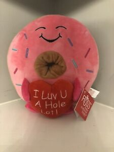 "Russ Donut Plush ""I Luv U A Hole Lot!"" Valentines Day 2021 CVS Butt TikTok Viral"