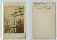 Italie, Trieste Le Grand Canal  CDV vintage albumen carte de visite,  Tirage a