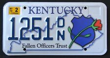 "KENTUCKY "" FALLEN POLICE OFFICERS -ROSE  FLOWER "" KY Specialty License Plate"