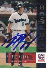 DAVE KRYNZEL HIGH DESERT MAVERICKS SIGNED UD BASEBALL CARD MILWAUKEE BREWERS