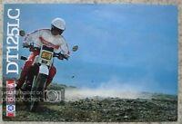 YAMAHA DT125LC Motorcycle Sales Brochure c1982 #LIT-3MC-0107623-82E