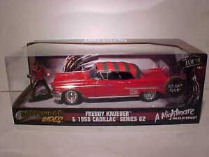 Nightmare on Elm Street 1958 Cadillac Diecast 1:24 Jada 8 inch w Freddy Krueger