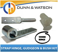 100mm Zinc Plated Side Board Hinge Kit (Strap Gudgeon Nylon Bush) Utes Trailers