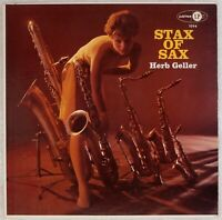 HERB GELLER: Stax of Sax US '58 Jubilee JLP 1094 DG Jazz LP NM- Vinyl