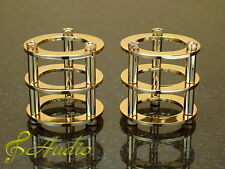2 Pieces Gold Plated Tube Protector for 12AX7, ECC83